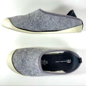 Mahabis Classic Gray Wool Slipper - 5-6